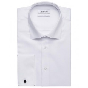 Calvin Klein Mens Cotton Dobby Slim Fit Shirt CKAD600