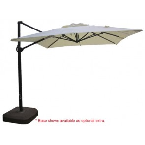 Cantilever Market Umbrella 2.5m Square - Natural