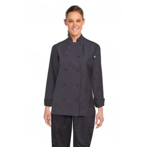 Chef Works Carlisle Women's Fine Stripe Executive Chef Jacket