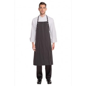 Chef Works Chalkstripe Adjustable Chefs Apron - Black