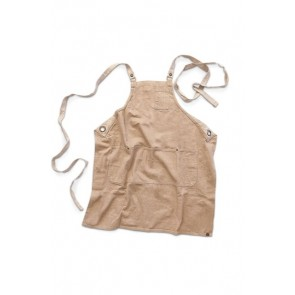 Chef Works Austin Natural Denim Cross Back Apron