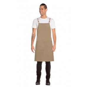 Chef Works Austin Denim Cross Back Apron - Model
