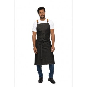 Chef Works Berkeley Chefs BIB Apron - Black Indigo
