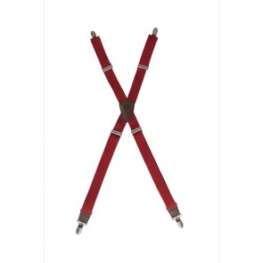Chef Works Berkeley Solid Apron Suspenders - Wine