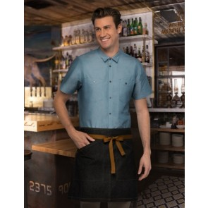 Chef Works Berkeley Half Apron - Black Model