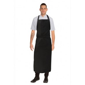 Chef Works Large Bib Apron -Black