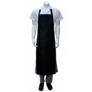 Chef Works Long PVC BIB Apron - Black