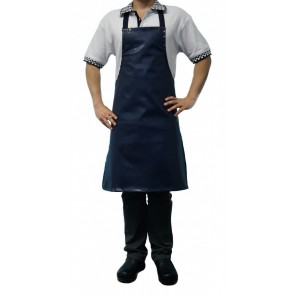 Chef Works Short PVC BIB Apron - Navy