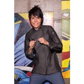 Chef Works Gramercy Womens Denim Zipper Chef Jacket