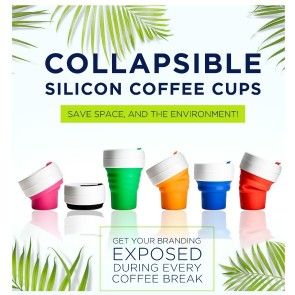 Collapsible Silicon Coffee Cups