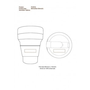 Collapsible Silicon Coffee Cup 1 Col Print - 1 Pos