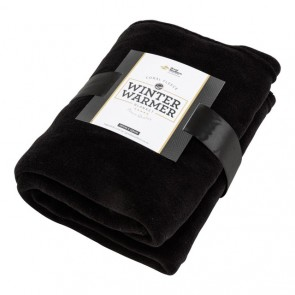 Coral Fleece Blanket - Black