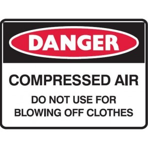 Danger Compressed Air Sign 300 x 225mm Metal