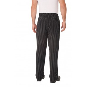 Chef Works Designer Pinstripe Baggy Chef Pants - Back