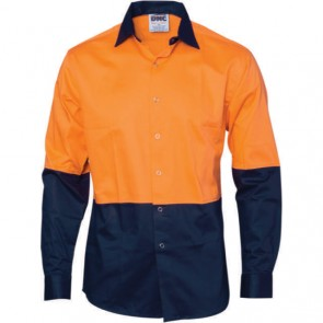 DNC Hi Vis Cool Breeze Food Industry Cotton Long Sleeve Shirt