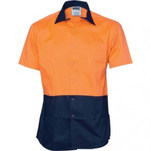 DNC Hi Vis Cool Breeze Food Industry Cotton Shirt - Short Sleeve