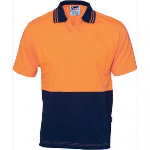 DNC Hi Vis Cool Breeze Cotton Jersey Food Industry Polo Shirt - Short Sleeve 200gsm