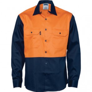 DNC Patron Saint® Hi Vis Flame Retardant Cotton L/S Shirt