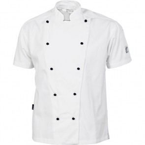 DNC Chefs Cool Breeze Cotton Jacket Unisex - Short Sleeve 190gsm