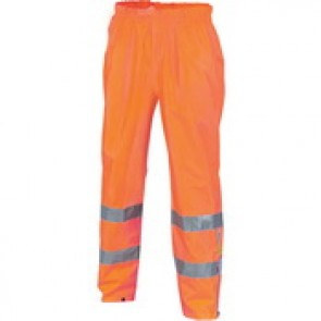 HiVis D/N Breathable Rain Pants with 3M R/Tape - Orange