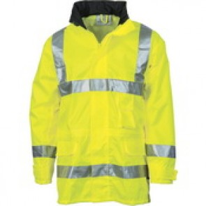 DNC HiVis D/N Breath abl e Rain Jacket with 3M R/Tape - Yellow