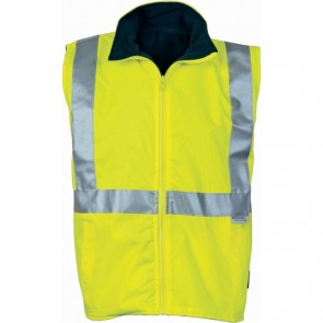 DNC Hi Vis Reversible Vest 3M REF Tape - Yellow Navy