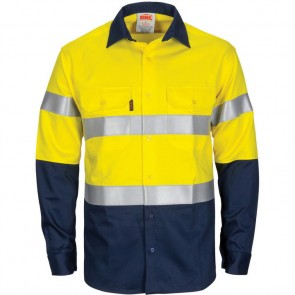 DNC Patron Saint® Hi Vis Flame Retardant Cotton L/S Shirt 3M F/R Tape