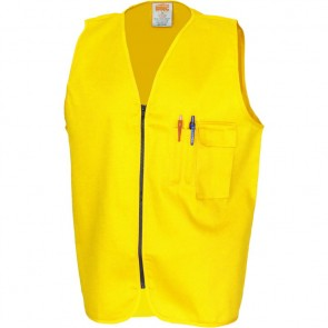 DNC Patron Saint® Hi Vis Flame Retardant Drill ARC Rated Safety Vest - Yellow