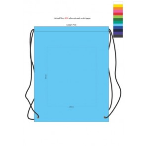 Drawstring Backpack - Branding Template