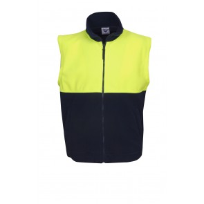 Hi Vis Polar Fleece Vest Front