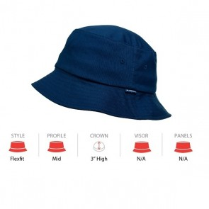 Flexfit 5003 Bucket Hat - Navy Cap Key