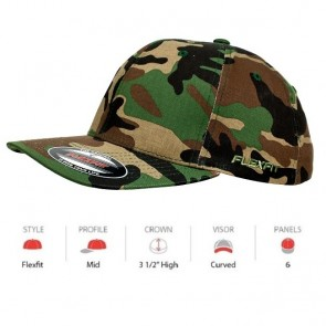 Flexfit Camo - Green Camo Cap Key