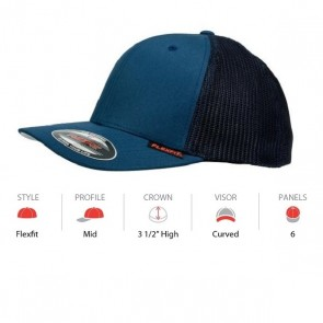 Flexfit Mesh Trucker - Navy Cap Key