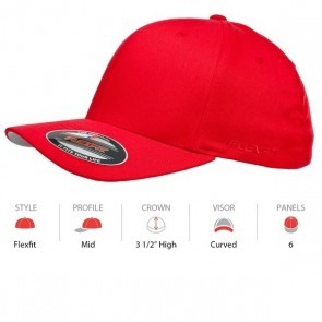 Flexfit Perma Curve Cap Youth - Red Chart