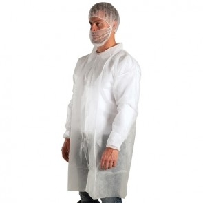 Force360 Disposable SPP Laboratory Coat  WHITE