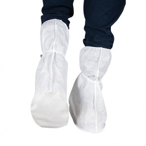 Force360 Disposable Over Boot with PVC Sole White
