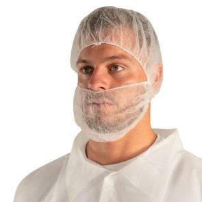 Force360 Disposable Double Loop Beard Cover WHITE
