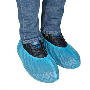 Force360 Disposable Non Skid Shoe Cover Blue