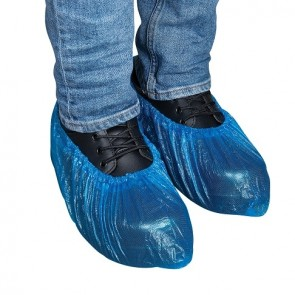 Force360 Disposable CPE Shoe Cover Blue