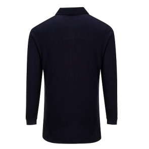 Modaflame™ Knit Flame Resistant Anti-Static Long Sleeve Polo Shirt Navy