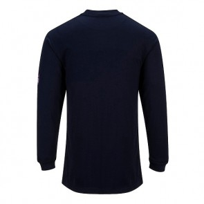 Modaflame™ Knit Flame Resistant Anti-Static Long Sleeve Tee Shirt Navy