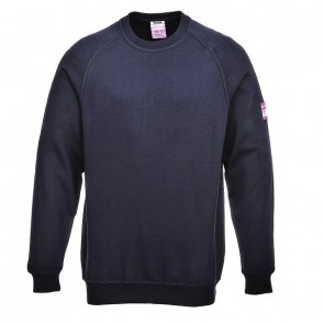 Modaflame™ Knit Flame Resistant Anti-Static Long Sleeve Sweat Shirt Navy