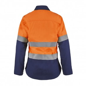 Flame Buster Torrent HRC2 Ladies Hi Vis Two tone Open Front Shirt With Gusset Sleeves and FR Reflective Tape