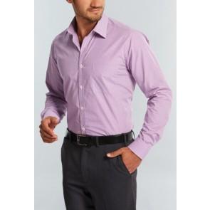 Gloweave Mens Gingham Check Long Sleeve Shirt - lilac Model