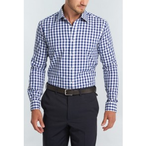 Gloweave Mens Royal Oxford Long Sleeve Shirt - Navy Model