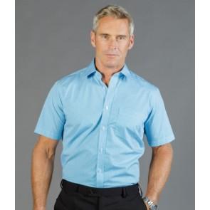 Gloweave Westgarth Men's Gingham Short Sleeve Shirt - Model Teal