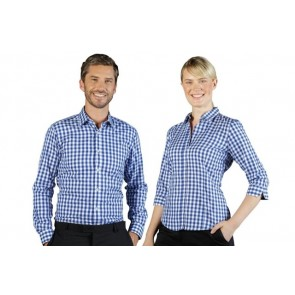 Gloweave Degraves Womens Royal Oxford 3 Qtr Sleeve Shirt