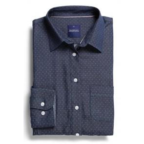 Gloweave Wellington Womens Denim Dobby Slim Fit Long Sleeve Shirt
