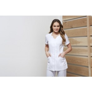 Biz Collection Ladies Eden Tunic - Model White Front
