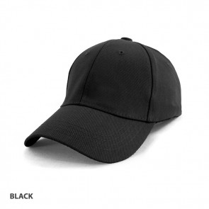Heavy Cotton Spandex Fitted Cap - Black